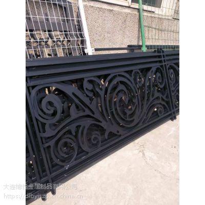大连铁艺护栏 锌钢护栏 铝艺围栏 等镀锌钢等金属制品