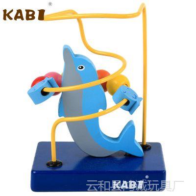 小号动物绕珠串珠玩具 幼儿童早教益智木质绕珠1-2-3岁宝宝玩具