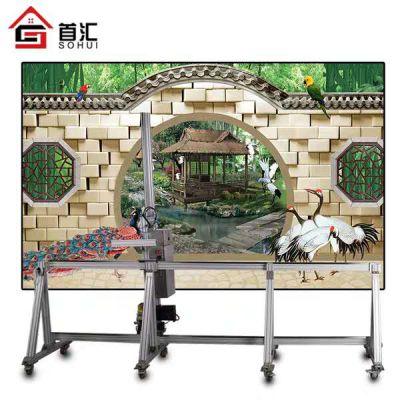 墙体彩绘金户外围墙喷绘设备装修室内装饰壁画电视背景墙装潢打印机