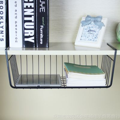 挂篮小卧室厨房置物收纳整理分层架子隔板办公室桌边下衣柜吊柜