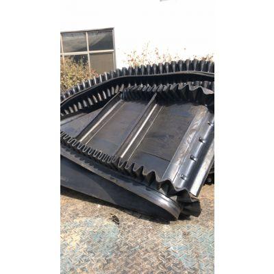 爬坡裙边输送机袋装物料 有机肥料装卸输送机