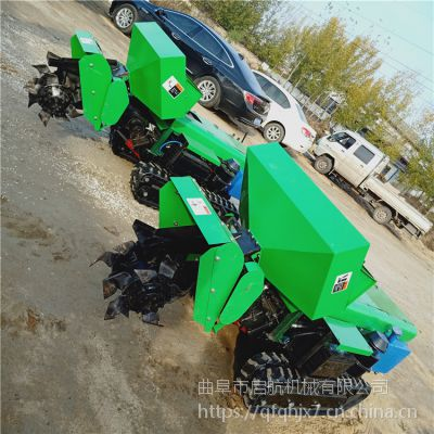 多用途果园履带开沟机 启航耕地机价格 小型施肥机型号