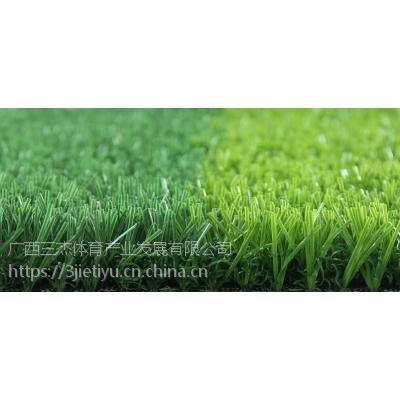 学校新国标人造草皮足球场施工_学校新国标免填充颗粒人造草足球场