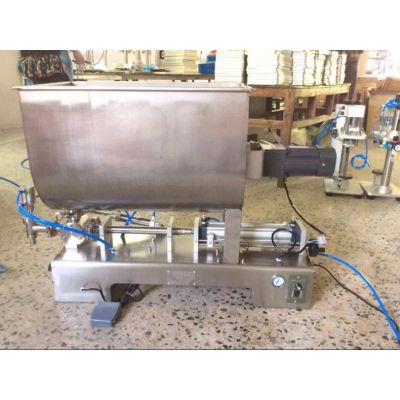 豆瓣酱灌装机-沃发机械卧式搅拌膏体酱类灌装机专供