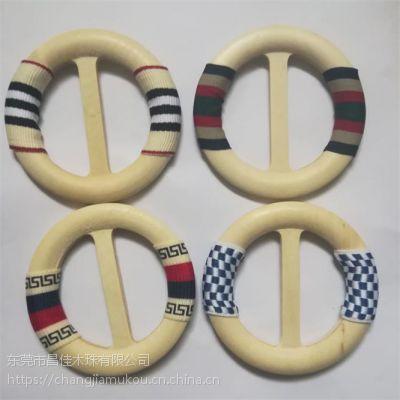 彩色条纹织带木腰带扣木日字扣木皮带扣头