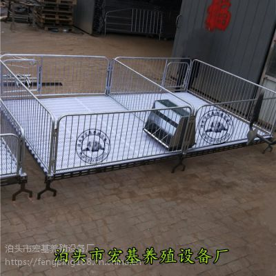 贵州猪场使用小猪保育床铸铁双体育肥栏图片