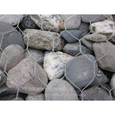 陕西水利工程锌铝合金丝格宾网笼子 西安铁丝笼石头箱加筋石笼网箱现货