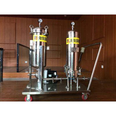 不锈钢微孔膜过滤器 饮用水白酒过滤机 滤芯终端分离设备正品直销