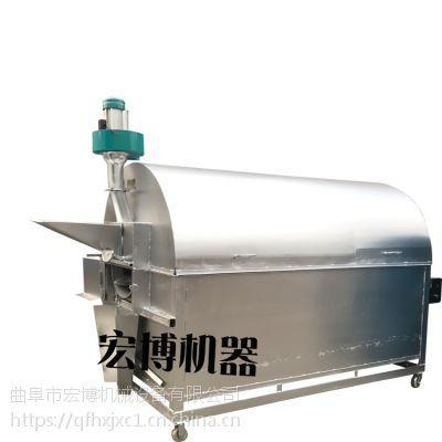 煤炭加热炒货机价格 100斤不锈钢芝麻炒货机 加大500斤炒货机