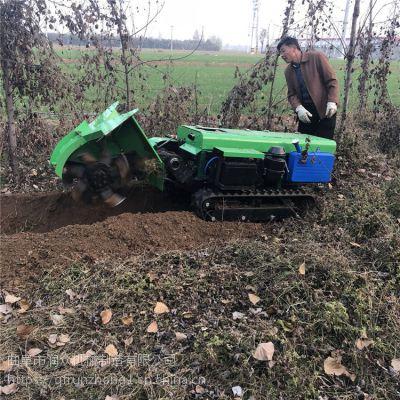 春季爆款自走履带开沟机 施肥回填机定制 履带田园管理机多用