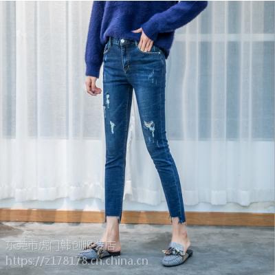 摆地摊处理牛仔裤清货杂款小脚裤女装长裤批发