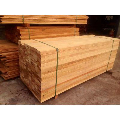 遵义柳桉木地板料厂家 非洲菠萝格坐凳加工
