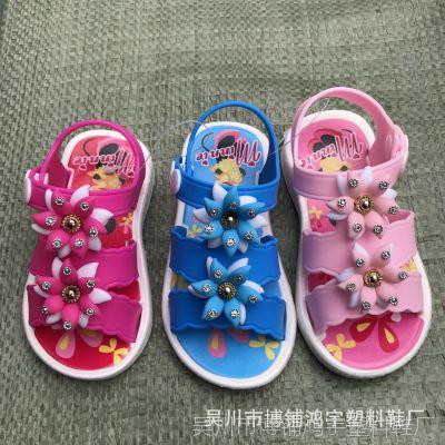 女童凉鞋2018新款韩版夏季水钻公主鞋学步防滑软底小童凉儿童凉鞋