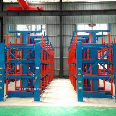 四川重型货架特点 伸缩式悬臂货架安全 超长管材专用