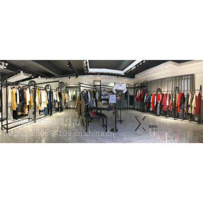 深圳品牌折扣女装古诺尔春装大衣四季青服装批发市场
