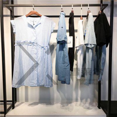 19年新款女装山川布衣连衣裙广州品牌服饰库存批发多种面料新款组货包
