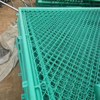 贵州学校体育场墨绿色勾花护栏网 足球场专用围网