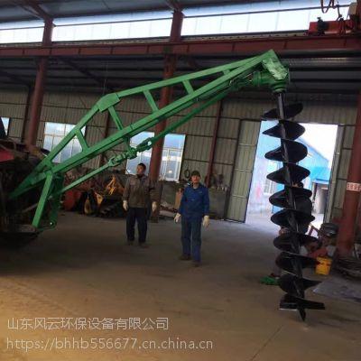 天津环保种树挖坑机厂家 合金钻头式挖坑机