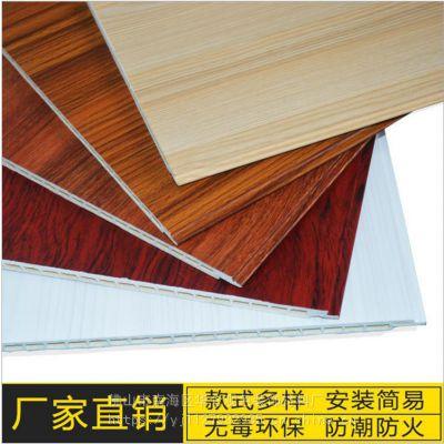 厂家供应华仑观色防火防白蚁室内装饰竹木纤维集成快装护墙板MQ60003