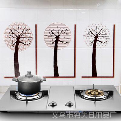 厨房耐高温防油贴纸隔油纸 耐热透明防水防油污瓷砖墙贴纸45*90cm