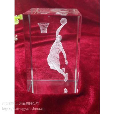 NBA全明星大赛纪念品,哈登扣篮水晶内雕摆件,3D打印