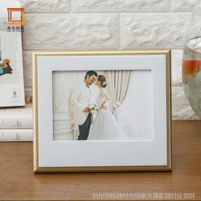 厂家批发 7寸10寸金百伦创意相框摆台 儿童婚纱个性影楼像框直销