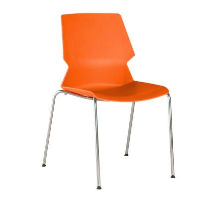 高档餐厅椅多功能蓝色塑钢培训椅人体工学办公椅带扶手简约会议椅