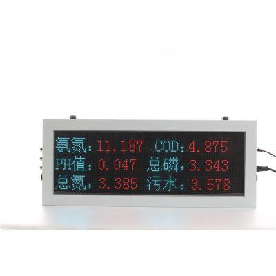 绍兴化工厂环保监测led屏-广州驷骏精密设备