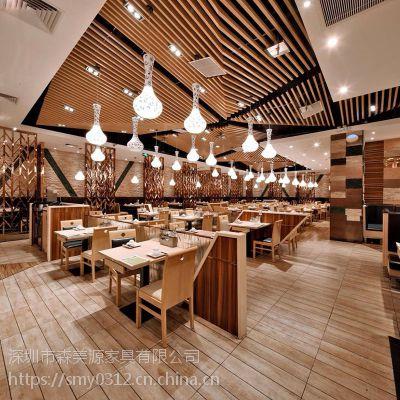 中式餐厅桌椅实木餐桌椅