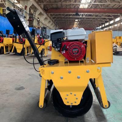 700小型单钢轮汽油压路机 天德立9马力汽油手扶式压路机