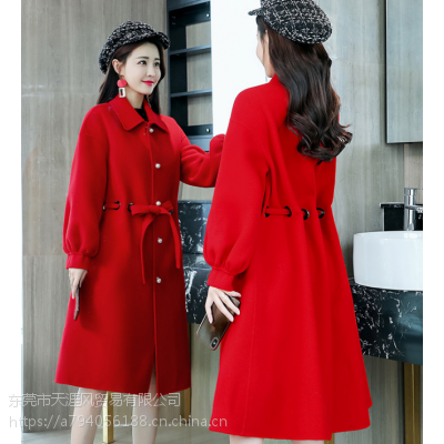 便宜女装外套呢子大衣双面尼外套尾货大衣清仓中长款毛呢外套清货