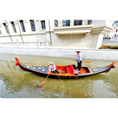 7米景区贡多拉木船 豪华型贡多拉船 精品欧式木船 休闲旅游观光船