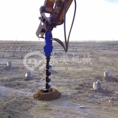 护筒桩引孔旋挖机 引孔用螺旋钻机 植树钻机 东奕机械