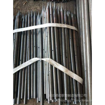 钢花管 超声波检测管 小导管深加工出尖打孔车丝