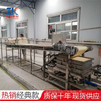 节能环保大型干豆腐机 一人操作数控豆腐皮机生产线 厂家质保十年