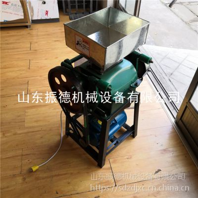 菏泽家用对辊式小型挤扁机 振德 高粱荞麦挤扁机 家用花生米破碎机 低价促销