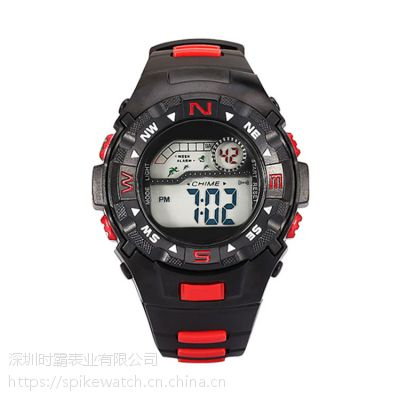 SPIKE厂家定制批发新款塑胶指南针运动电子手表