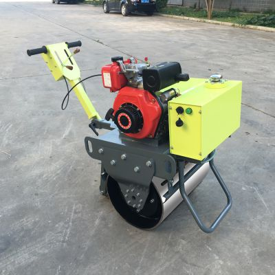 独轮单轮一个轮压路机 20千牛激振力量专门干小活的压路机