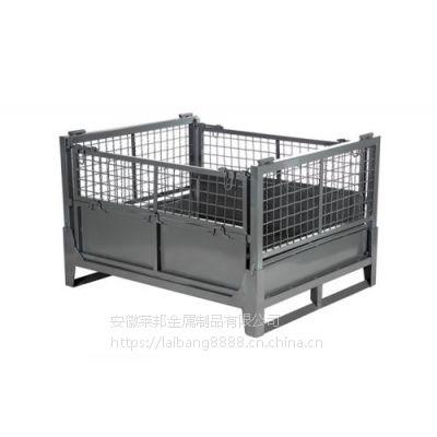 提供钢料箱 铁皮周转箱 产品储存箱 车间物料箱铁盒 堆垛箱五金配件箱