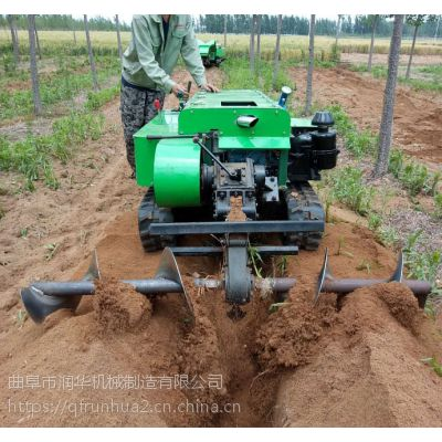 农场多功能管理机 履带式多用途旋耕机 柴油动力开沟施肥机