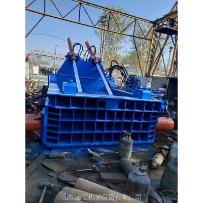 铁皮铁屑铁刨花成型机-废旧金属压块机-废旧金属粉末压块机-山东金亿机械