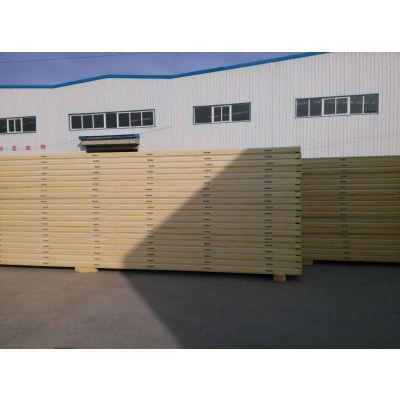 丹东聚氨酯保温冷库板960-1000型聚氨酯封边岩棉夹心板厂家