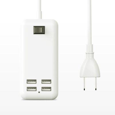 4U充电器安卓usb插头排插多用功能手机通用快速多孔3A快充万能多头6正品三合一插座原装适用
