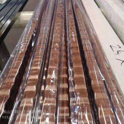 6米玫瑰金无指纹不锈钢管材建筑装饰材料佛山鹤历不锈钢厂家供应