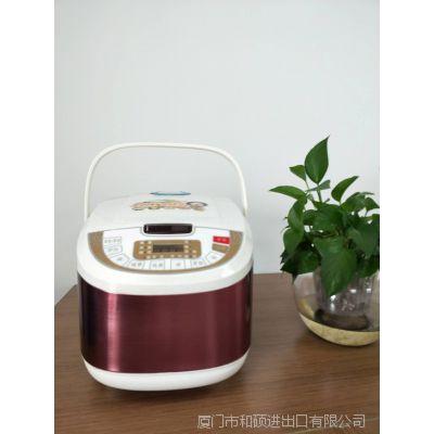 厂家批发 家用5L不粘锅内胆方形全自动预约电饭锅 礼品