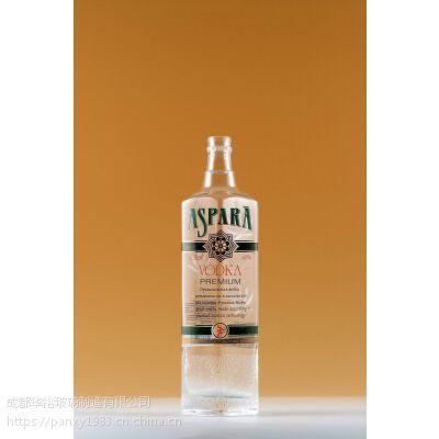 玻璃瓶厂定制生产晶质料玻璃瓶可蒙砂喷漆电镀烤标印logo