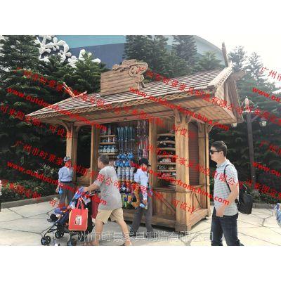 木制售货亭,游乐园餐饮售卖车,移动售卖屋小卖部