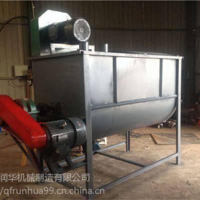 青贮草料搅拌机 双轴卧式混料机 电动混合干粉拌料机