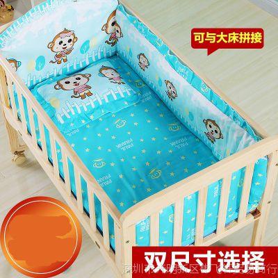 0-6岁多功能婴儿床实木新生儿宝宝摇篮床边15个月可折叠拼接大床
