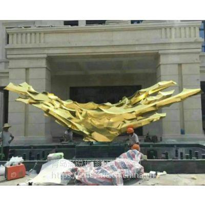 不锈钢抽象雕塑 酒店门口不锈钢大型雕塑
